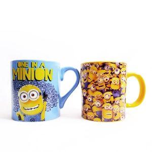 LOT 2 NEW MINIONS Despicable Me 14oz MUGS/Cups Set